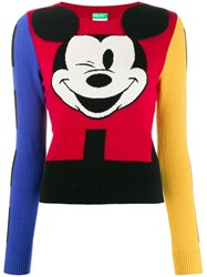 United Colors Of Benetton Mickey Mouse Jumper Red