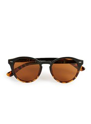 Topman Black And Tortoiseshell Round Sunglasses Multi