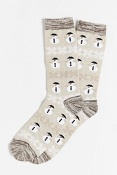 O'hanlon Mills Snowman Boot Sock Cream