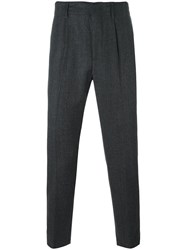 Dondup Pleat Detailing Tailored Trousers Grey