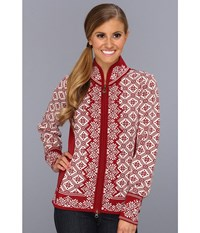 Dale Of Norway Christiania B Red Rose Off White Sweater