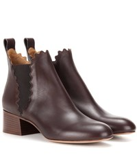 Chloe Leather Chelsea Boots Brown