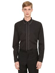 Givenchy Chain Trimmed Cotton Poplin Shirt