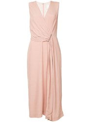 Dion Lee Side Gathered Midi Dress Pink