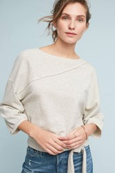Anthropologie Bianca Sweatshirt Cream