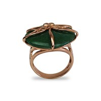 Bellus Domina Aventurine Dragonfly Ring Green