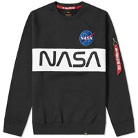 Alpha Industries Nasa Inlay Crew Sweat Black