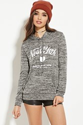 Forever 21 New York Graphic Marled Hoodie