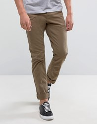 Only And Sons Slim Fit Chino Brown Yellow