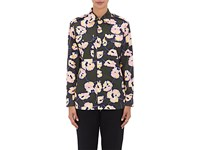 Marni Women's Floral Cotton Safari Shirt Dark Green