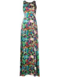Ultrachic Neon Print Dress