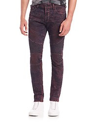 True Religion Rocco Moto Jeans Red