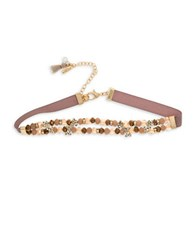 Lonna And Lilly Beaded Choker Beige