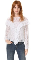 Rodebjer Mikayla Lace Blouse White