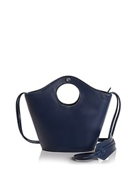 Elizabeth And James Market Small Leather Suede Tote Blue Silver