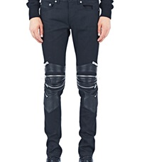 Saint Laurent Denim Biker Pants Black