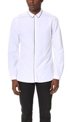 The Kooples Grosgrain Detail Shirt White
