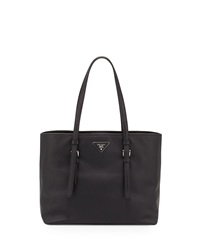 Prada Saffiano Leather Shopper Tote Bag Black Nero