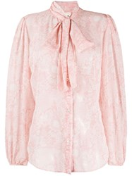 Semicouture Pussy Bow Embroidered Shirt 60