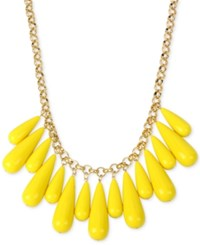 Inc International Concepts M. Haskell For Inc Gold Tone Multi Stone Statement Necklace Only At Macy's Yellow