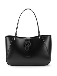 Valentino By Mario Valentino Charlote Leather Tote Black