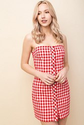Honey Punch Strapless Shift Dress By Cherry
