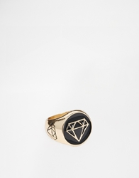 Asos Chunky Geometric Signet Ring Gold
