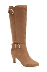 Bella Vita Women's Toni Ii Knee High Boot Fawn Suede