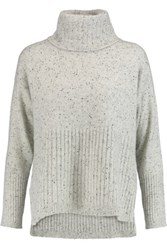 Derek Lam 10 Crosby By Cashmere Boucle Turtleneck Sweater Gray