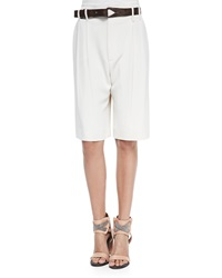 Brunello Cucinelli Belted Crepe Walking Shorts