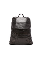 Balenciaga Classic Small Traveler Backpack With Traditional Studs In Black