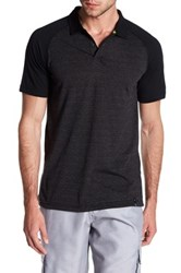 Burnside Spread Collar Raglan Sleeve Polo Gray