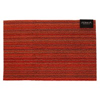 Chilewich Skinny Stripe Shag Rug Orange 46X71cm