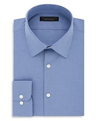 Bloomingdale's The Men's Store At Micro Check Regular Fit Dress Shirt 100 Exclusive Blue