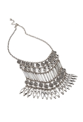Forever 21 Etched Rhinestone Statement Necklace