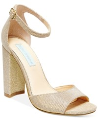 Blue By Betsey Johnson Carly Block Heel Sandals Women's Shoes