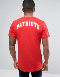 New Era T Shirt With Patriots Back Print Red