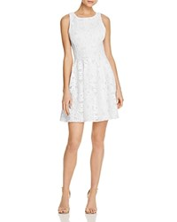 Aqua Textured Fit And Flare Dress 100 Exclusive White