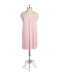 Miss Elaine Lace Trimmed Nightgown Pink Ivory