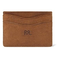 Rrl Roughout Leather Cardholder Tan