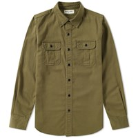 Saint Laurent Military Overshirt Green
