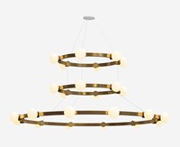 Rich Brilliant Willing Cinema 448 6612 Chandelier Yellow