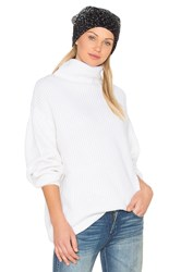 Blq Basiq Oversize Turtleneck Sweater Ivory