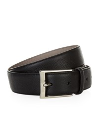 Harrods Of London Grain Leather Belt Unisex