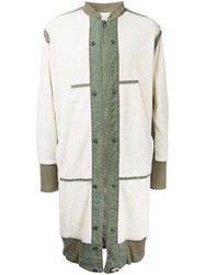 Greg Lauren 'Tent' Long Coat White