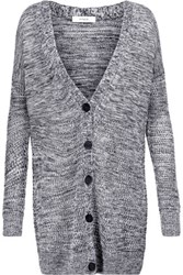 Vince Marled Open Knit Cardigan Midnight Blue