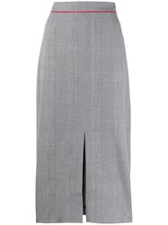Tommy Hilfiger Checked High Waisted Pencil Skirt 60
