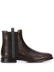 Brunello Cucinelli Flat Ankle Boots Brown
