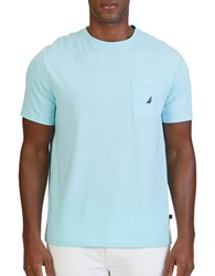 Nautica Slim Fit Pocket Tee Bright Aqua