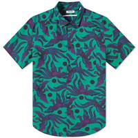Kenzo Short Sleeve Phoenix Print Shirt Green
